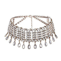 Aleación Diamantes de imitación Señoras' Collar de la manera
