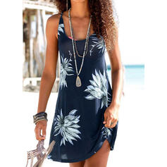 Floral Print Strap U-Neck Sexy Boho Cover-ups Swimsuits