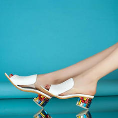 Frauen PU Stämmiger Absatz Sandalen Peep Toe mit Andere Schuhe