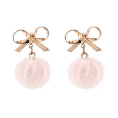 Bow Shaped Alloy Women's Fashion Earrings (Set of 2)