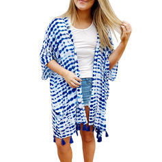 Stripe Col V Cover-up Maillot de bain