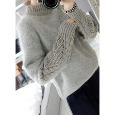 Cable-knit Chunky knit Crew Neck Sweaters