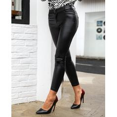Solid Long Sexy Long Skinny Leggings
