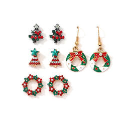 Unique Alloy With Imitation Pearl Rhinestone Jewelry Sets Christmas Jewelry
