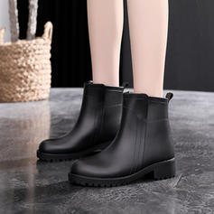 Women's Men's Rubber Low Heel Boots With Others shoes