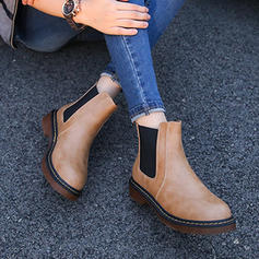 Women's Leatherette Low Heel Platform Boots Martin Boots With Others shoes