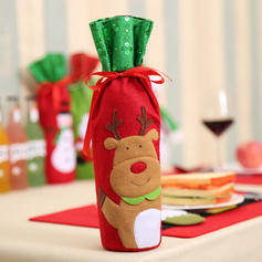 Snögubbe Ren Santa Christmas Trasa Flaskhölje