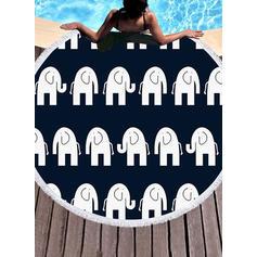Retro /Cru rond/attrayant serviette de plage