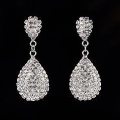 Shining Alloy Rhinestones With Rhinestone Ladies' Fashion Earrings
