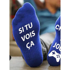 Tekst/Trykk Komfortabel/Crew sokker/Unisex Sokker