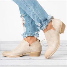 Femmes Tissu Talon bas Chaussures plates Bottes avec Autres chaussures