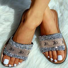 Kvinner PVC Flat Hæl Sandaler Tøfler med Letter sko
