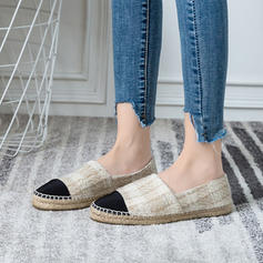 Women's Fabric Flat Heel Flats Closed Toe With Others shoes