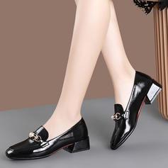 Kvinder PU Stor Hæl Pumps med Imiteret Pearl sko