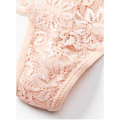 Lace Plain Brief Boyshort Panty