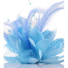 Ladies ' Glamourøse/Enkle/Håndlavet/Iøjnefaldende Silke Blomst Fascinators