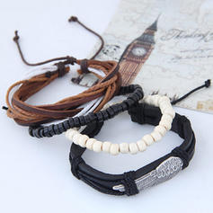 Unique Alloy Leatherette Ladies' Fashion Bracelets