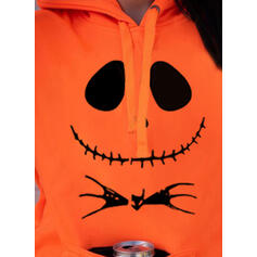 Drucken Halloween Lange Ärmel Kapuzen