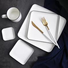 Modern Porcelain Dinner Plates Dessert Plates