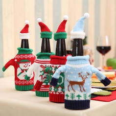 Reindeer Santa Christmas Knit Wool Bottle Cover