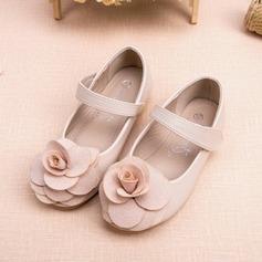 Pentru fete Imitaţie de Piele Fară Toc Închis la vârf Balerini Încălţăminte pentru Domnişoara de Flori cu Floare