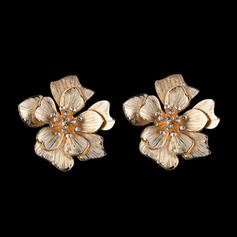 Exquisite Colourful Alloy With flower Women's Earrings
