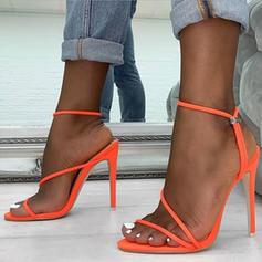Femmes Tissu Talon stiletto Sandales Escarpins avec Élastique chaussures