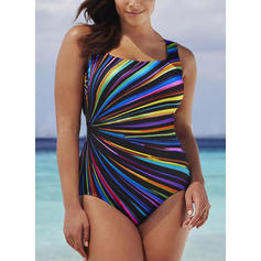 Colorful Strap Beautiful Plus Size One-piece Swimsuits