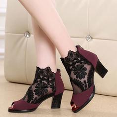 Femmes Mesh Talon bottier Sandales Escarpins À bout ouvert avec Autres chaussures