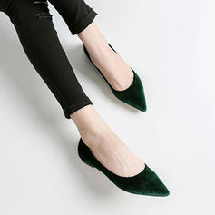 Women's Suede Flat Heel Flats Closed Toe shoes