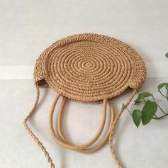 Fashionable Straw/Cloth Shoulder Bags/Beach Bags/Bucket Bags