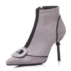 Femmes Similicuir Talon stiletto Escarpins Bottes Bottines avec Strass chaussures