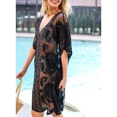 Enfärgad V-ringning Sexig Bohemiskt Strandklänningar Baddräkter