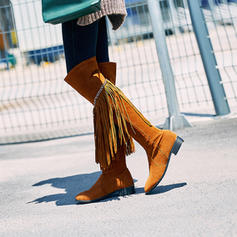 Femmes Similicuir Talon bas Bottes Bottes mi-mollets avec Tassel chaussures