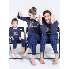 Καρό ύφασμα Επιστολή Οικογένεια Εμφάνιση Χριστουγεννιάτικες πιτζάμες