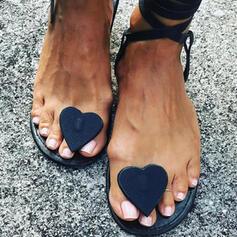 Mulheres PVC Sem salto Sandálias Chinelos sapatos