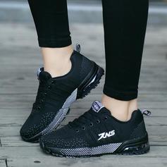 Mulheres Malha Casual Outdoor Caminhada com Aplicação de renda sapatos