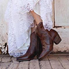 Dámské PU Široký podpatek Lodičky Boty S Zip obuv