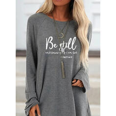 Print Figure Round Neck Long Sleeves Sweatshirt