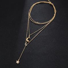 Stilvoll Legierung Strasssteine Frauen Halsketten