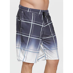 Men's Grid Board Shorts Swimsuit
