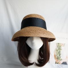 Señoras' Caliente Paja salada con Bowknot Sombrero de paja/Sombreros Playa / Sol