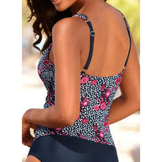 Floral Print Strap Beautiful One-piece Swimsuits