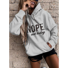 Print Figure Long Sleeves Hoodie