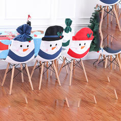 Christmas Snowman Chair Cover Cloth Holiday Decoration