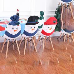 Boże Narodzenie Snowman Chaircover Tkanina Dekoracje świąteczne