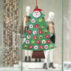 Merry Christmas Hanging Christmas Décor Non-Woven Fabric Christmas Tree Christmas Advent Calendar