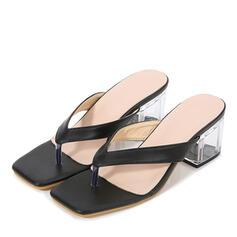 Mulheres PU Salto robusto Sandálias Peep toe com Animal da Cópia sapatos