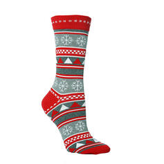 Unisex Merry Christmas Snowman Reindeer Santa Cotton Christmas Socks