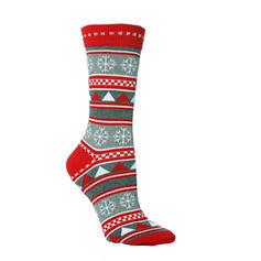 Unissex feliz Natal Boneco de neve Rena Papai Noel Algodão Meias Meias de Natal